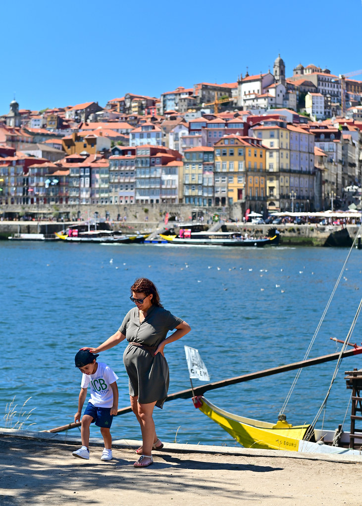 Vistas desde el muelle de Gaia en Oporto