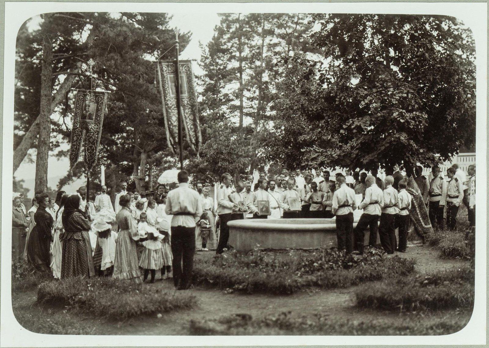07. Молебен в летнем лагере кадетского корпуса