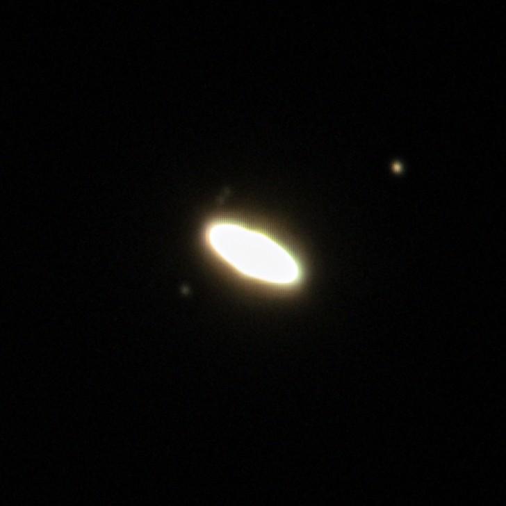 木星と土星の接近 (拡大: 土星) (2020/12/22 17:21)
