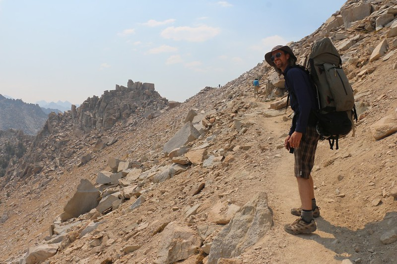 It was a long climb but, finally, Kearsarge Pass is just a short distance away