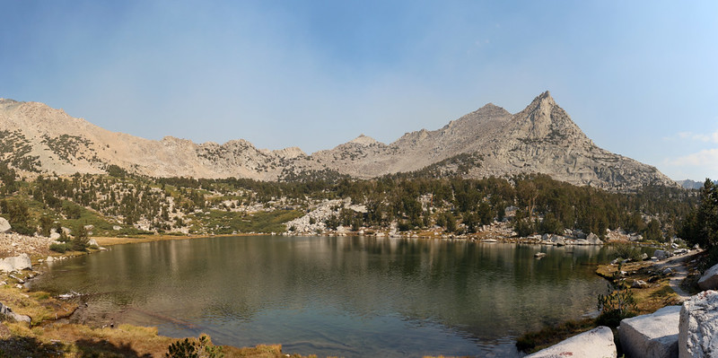 The sky was a bit more blue at the first of the Kearsarge Lakes