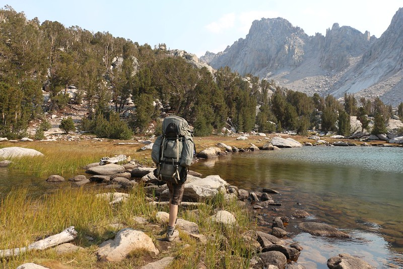 It was Labor Day Weekend, so it was crowded at Kearsarge Lakes - we headed across to the opposite shore to camp
