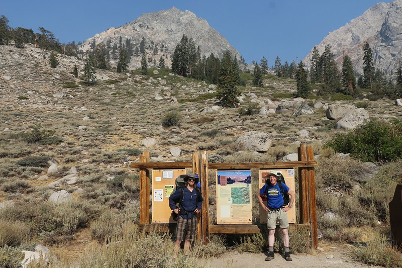 My son and I at the Kearsarge Pass Trailhead in Onion Valley - my wife dropped us off and headed home - Thanks!