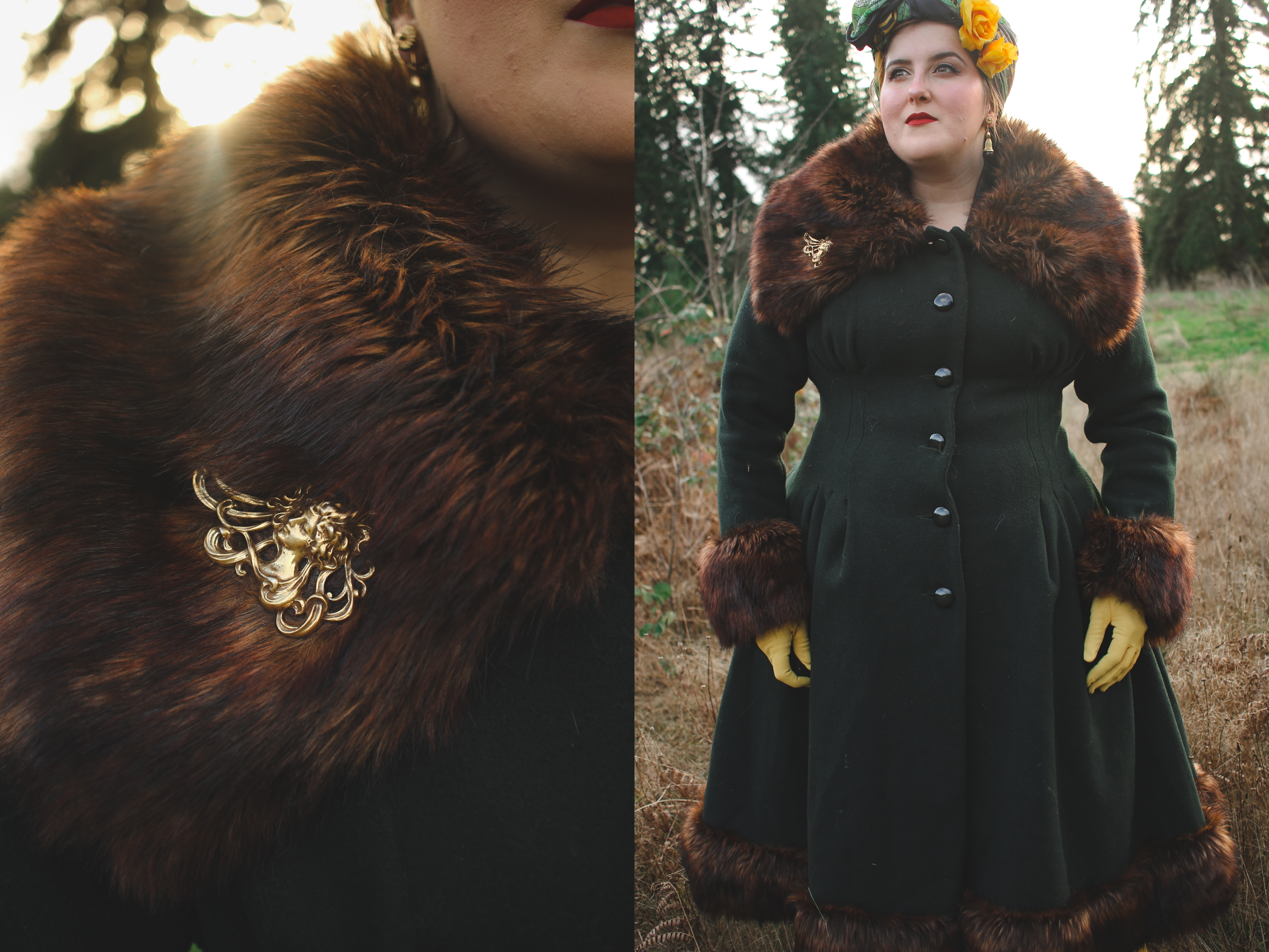 Collectif Pearl Coat Details
