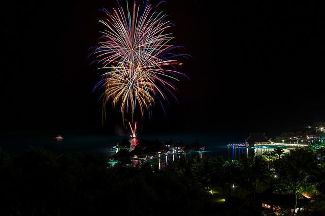Fireworks Jan 31 2018 - Conrad Bora Nui