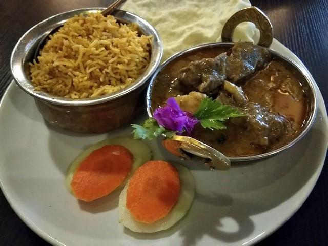 Masala mutton & biryani rice