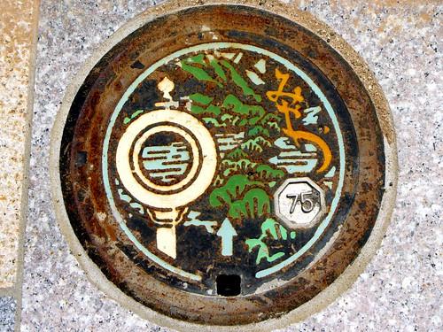 Miyazu Kyoto, manholke cover 5 (京都府宮津市のマンホール5)