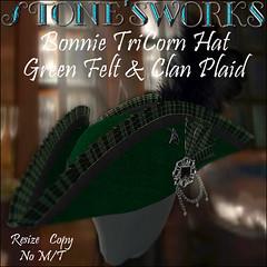 Bonnie Tricorn Hat Stone's Works