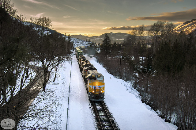 Union Pacific at Mosier, Oregon