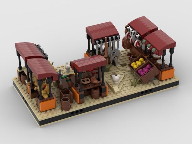 Lego Desert Market 9 for a Modular Tatooine