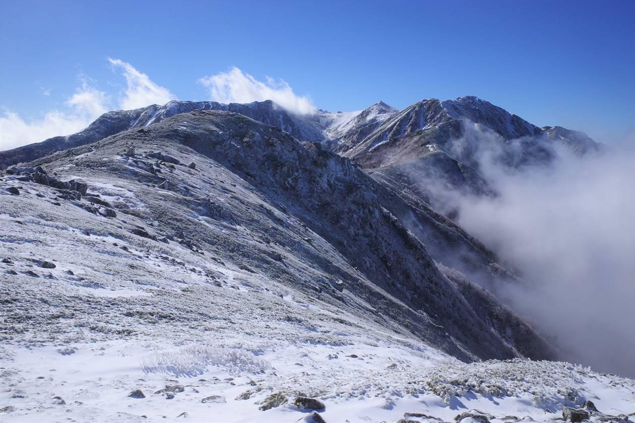 中央アルプス・将棊頭山 雪山登山