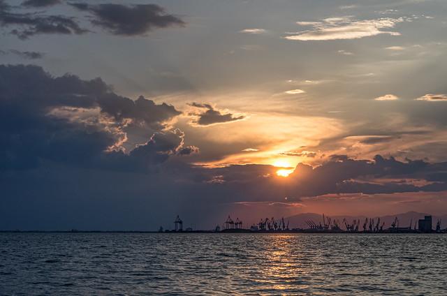 Sunset over Dancing Cranes
