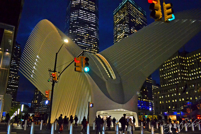 The Oculus & Freedom Tower Blue Hour One 1 WTC World Trade Center Lower Manhattan New York City NY P00750 DSC_0076