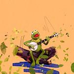 Kermit Art Portrait