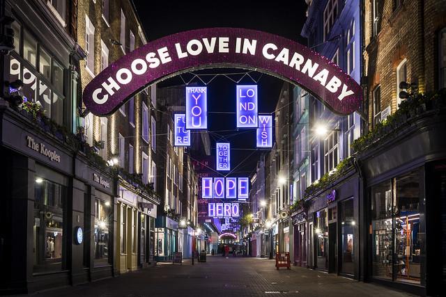 Choose Love in Carnaby