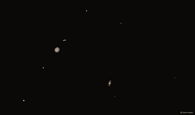 The conjunction of Jupiter and Saturn