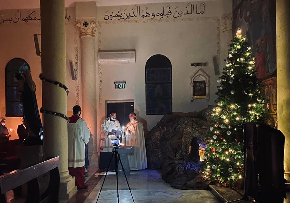 Gaza - Bendición del Árbol de Navidad y del Pesebre