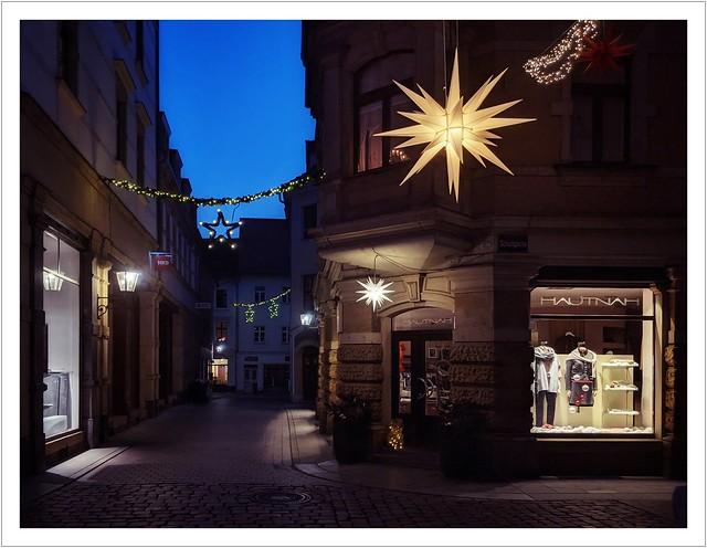 Weihnachtszeit 2020 in den Gassen von Pirna