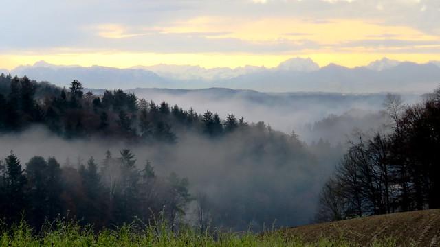 Ein Tag mit Licht und Nebel - Un jour de lumière et de brouillard