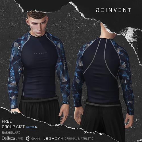 REINVENT I Winter Group Gift I Rashguard I @MainStore