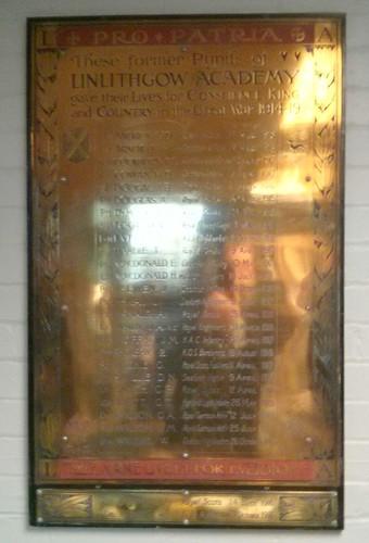 War Memorial, Linlithgow Academy