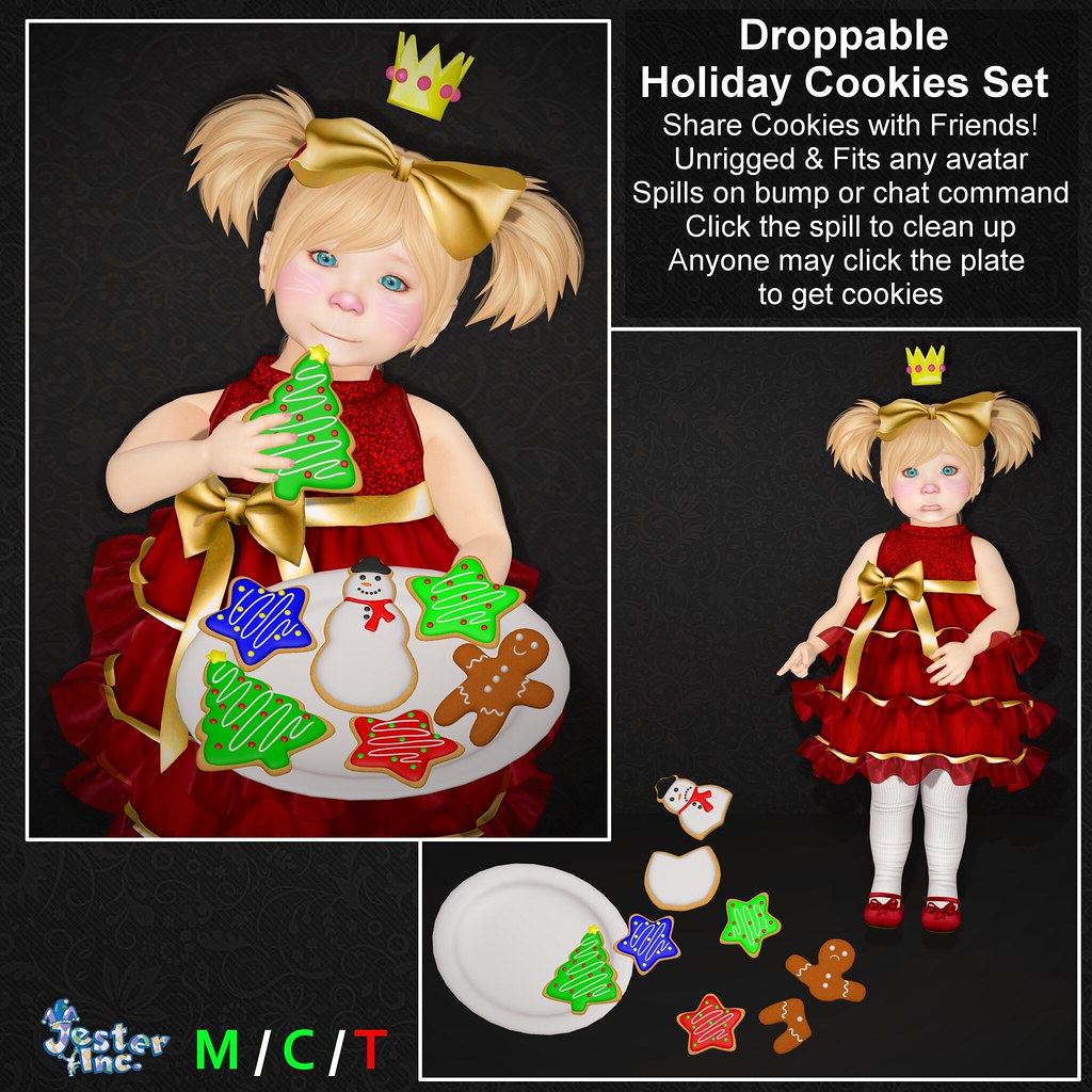 Presenting the new Droppable Holiday Cookies Set from Jester Inc.