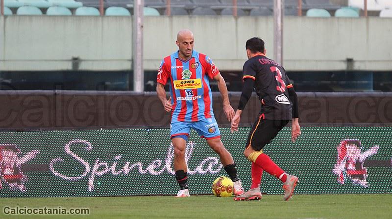 Antonio Piccolo, il suo gol (primo in rossazzurro) è valso il momentaneo 1-1