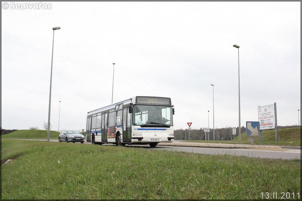 Renault Agora S – Keolis Versailles / STIF (Syndicat des Transports d'Île-de-France) – Transilien SNCF n°206