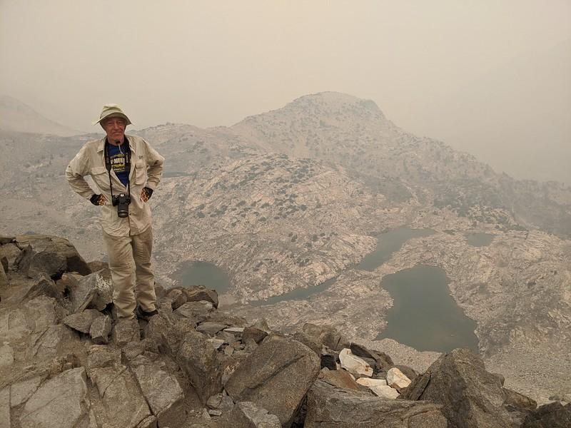 Me on Glen Pass, looking northwest toward the high tarns down below us