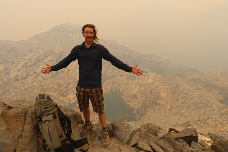 It was very smoky on Glen Pass so the views were hazy but we posed for photos anyway