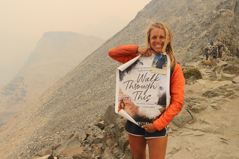 We met Sara Schulting-Kranz and signed her Walk Through This poster on top of Glen Pass on the JMT
