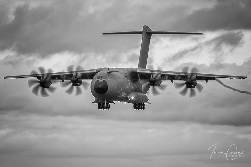 Airbus A400M Atlas – Belgium-Air Force – CT-02 – Brussels Airport (BRU EBBR) – 2020 12 22 – Landing RWY 25L – 07 – Copyright © 2020 Ivan Coninx