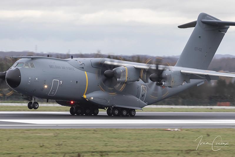 Airbus A400M Atlas – Belgium-Air Force – CT-02 – Brussels Airport (BRU EBBR) – 2020 12 22 – Landing RWY 25L – 13 – Copyright © 2020 Ivan Coninx