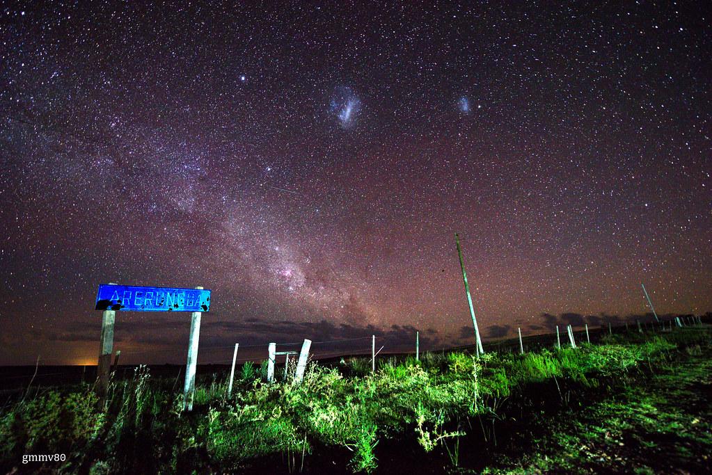 Noche estrellada en Arerunguá