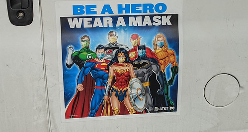 COVID - Be A Hero, Wear A Mask Sign