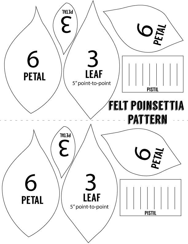 Felt Poinsettia Pattern