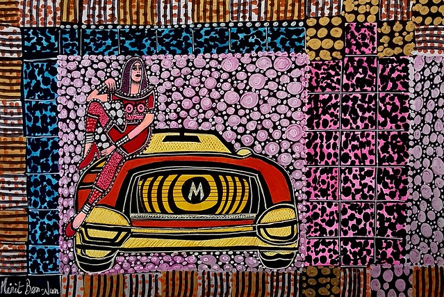 אמנות ישראלי מודרני מירית בן נון פופ ארט ציירת אמנית עכשווי