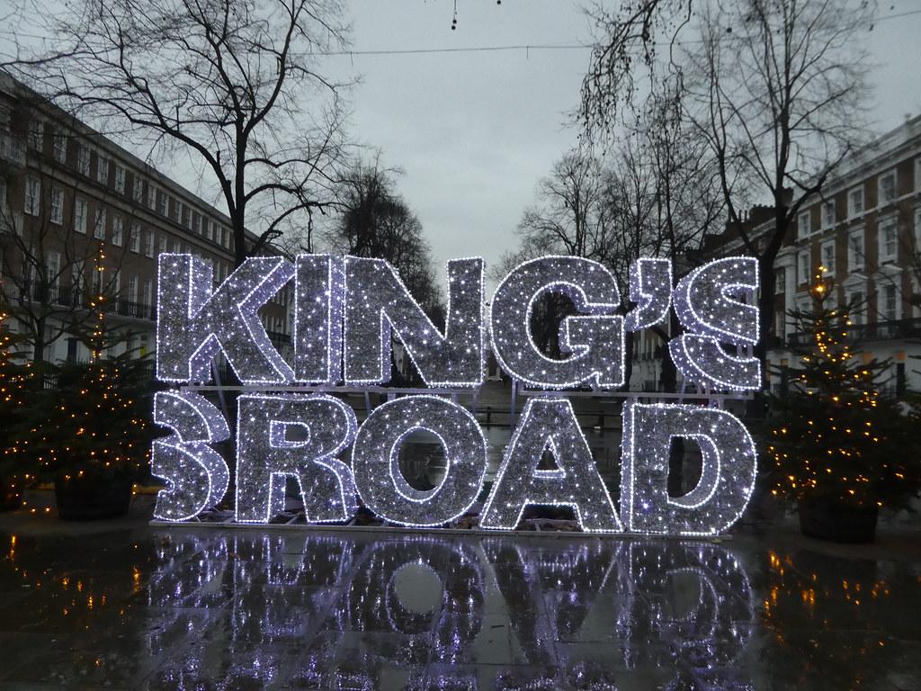 Festive lights on Kings Road, Chelsea