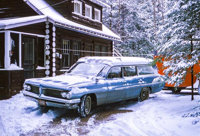 Found Kodachrome Slide --1962 Pontiac Catalina Station Wagon