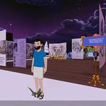 Decentraland(ディセントラランド)のメタバース(仮想空間)で展覧会を開催して、西垣至剛さんの絵画作品を展示してみました in ごちゃまぜ図書館分館