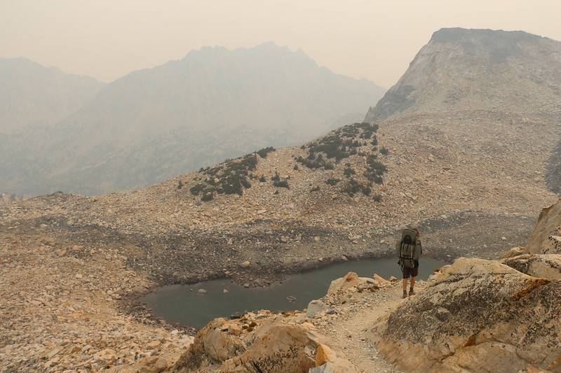Black Mountain (left of center) and Painted Lady (right) as we continue north on the PCT, down from Glen Pass