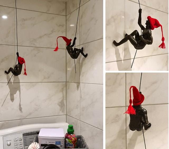 Julpynt i badrummet