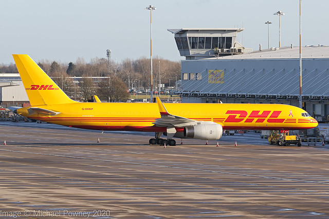 G-DHKP - 2002 build Boeing B757-223PCF, parked at Cargo West at East Midlands