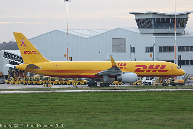 G-DHKO - 2002 build Boeing B757-223PCF, parked at Cargo West at East Midlands