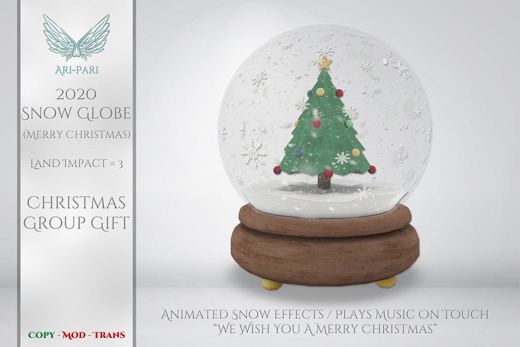 [Ari-Pari] 2020 Snow Globe – Merry Christmas