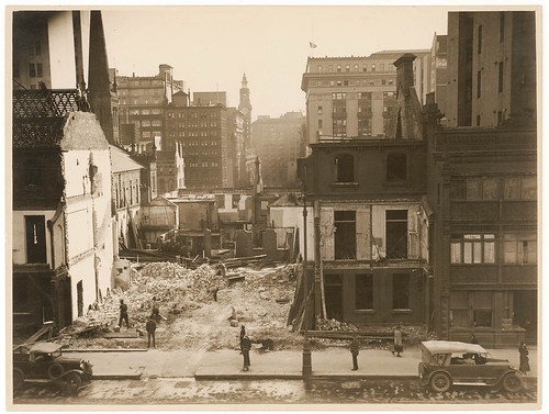 Martin Place extension from Elizabeth Street to Macquarie Street, c. 1933, Sam Hood | by State Library of New South Wales collection