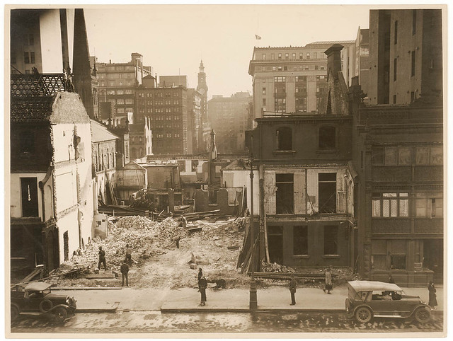Martin Place extension from Elizabeth Street to Macquarie Street, c. 1933, Sam Hood
