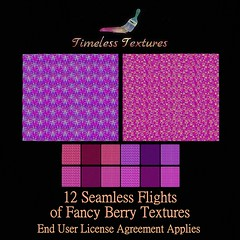 2020 Advent Gift Dec 24th - 12 Seamless Flights of Fancy Berry Timeless Textures