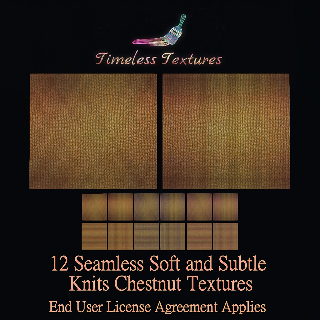 2020 Christmas Gift from Dec 24th – 12 Seamless Soft and Subtle Knits Chestnut Timeless Textures