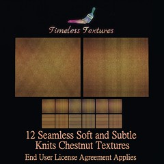 2020 Christmas Gift from Dec 24th - 12 Seamless Soft and Subtle Knits Chestnut Timeless Textures